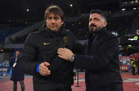 """Conte sfida Gattuso a suon di """"cazzimma"""""""
