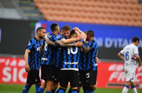 L'Inter festeggia lo scudetto con una manita alla Sampdoria