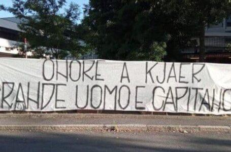 """La Curva Nord ringrazia Kjaer: """"Grande uomo e capitano"""""""